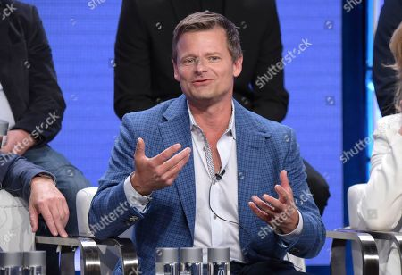 "Steve Zahn participates in the ""Valley of the Boom"" panel during the National Geographic Television Critics Association Summer Press Tour at The Beverly Hilton hotel, in Beverly Hills, Calif"