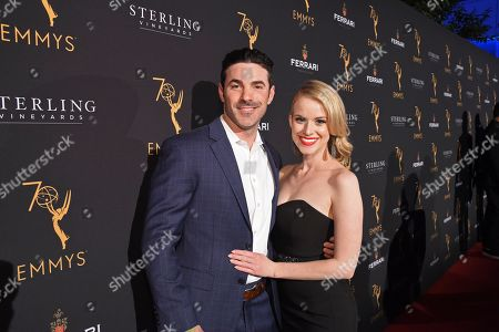 Carlie Craig, right, and guest attend the 70th Los Angeles Area Emmy Awards, at the Saban Media Center at Television Academy's North Hollywood, Calif. headquarters on