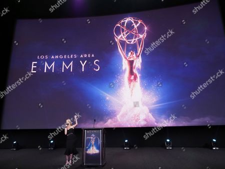 Stock Image of Carlie Craig performs at the 70th Los Angeles Area Emmy Awards, at the Saban Media Center at Television Academy's North Hollywood, Calif. headquarters on