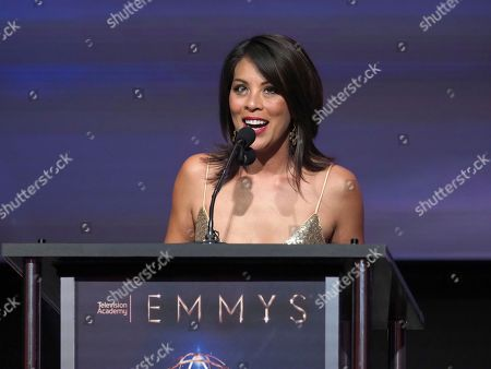 Cher Calvin speaks at the 70th Los Angeles Area Emmy Awards, at the Saban Media Center at Television Academy's North Hollywood, Calif. headquarters on