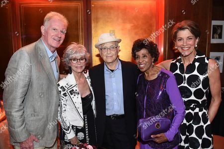 Ed Begley Jr., from left, Rita Moreno, Norman Lear, Marla Gibbs, and Wendie Malick attend the first-ever AARP TV for Grownups Honors at the Sunset Tower Hotel on in Los Angeles
