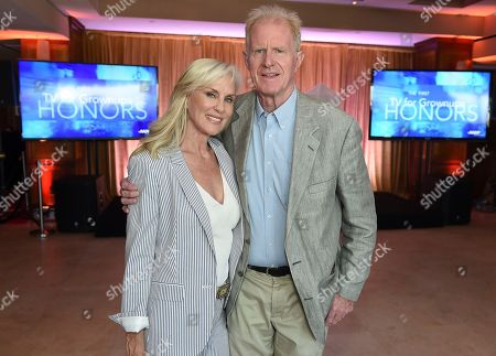 Rachelle Carson, left, and Ed Begley Jr. attend the first-ever AARP TV for Grownups Honors at the Sunset Tower Hotel on in Los Angeles