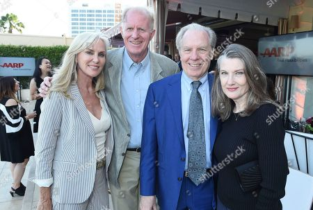 Rachelle Carson, from left, Ed Begley Jr., Michael McKean, and Annette O'Toole attend the first-ever AARP TV for Grownups Honors at the Sunset Tower Hotel on in Los Angeles