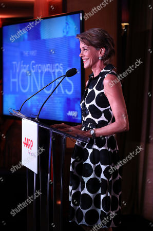 Wendie Malick speaks at the first-ever AARP TV for Grownups Honors at the Sunset Tower Hotel on in Los Angeles