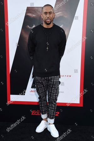 """Affion Crockett attends the LA Premiere of """"The Equalizer 2"""" at the TCL Chinese Theatre, in Los Angeles"""