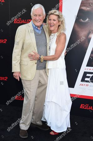 "Orson Bean, left, and Alley Mills attend the LA Premiere of ""The Equalizer 2"" at the TCL Chinese Theatre, in Los Angeles"