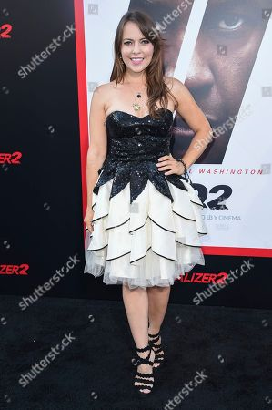 """Olga Kay attends the LA Premiere of """"The Equalizer 2"""" at the TCL Chinese Theatre, in Los Angeles"""