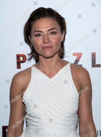 """Trieste Kelly Dunn attends a screening of """"Puzzle"""", hosted by Sony Pictures Classics and The Cinema Society, at the Roxy Cinema, in New York"""