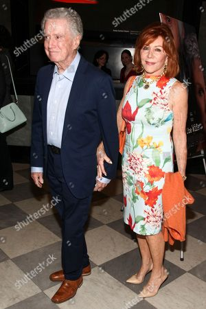 "Regis Philbin, left, and Joy Philbin, right, attend a special screening of Sony Pictures Classics' ""The Wife"" at the Paley Center, in New York"