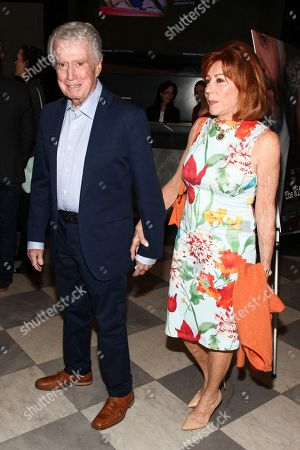 """Regis Philbin, left, and Joy Philbin, right, attend a special screening of Sony Pictures Classics' """"The Wife"""" at the Paley Center, in New York"""