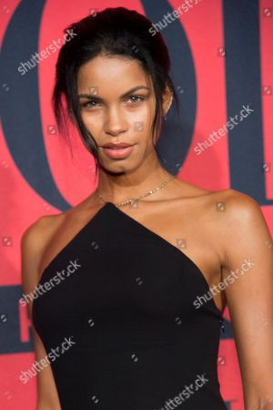 Daiane Sodre attends a Ralph Lauren Fragrances private event hosted with Ansel Elgort at Manhattan Classic Car Club, in New York