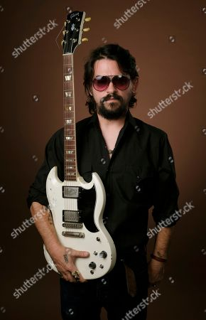 """Singer-songwriter Shooter Jennings, son of iconic country musicians, Waylon Jennings and Jessi Colter, poses for a portrait in Los Angeles to promote his latest album, """"Shooter,"""" out on August 10"""