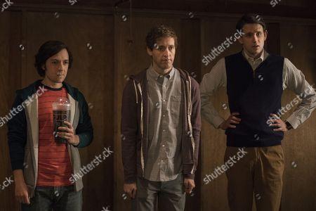 Josh Brener as Nelson 'Big Head' Bighetti, Thomas Middleditch as Richard Hendricks, Zach Woods as Donald 'Jared' Dunn