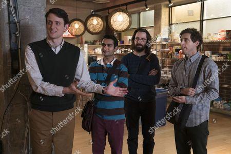 Zach Woods as Donald 'Jared' Dunn, Kumail Nanjiani as Dinesh Chugtai, Martin Starr as Bertram Gilfoyle, Thomas Middleditch as Richard Hendricks