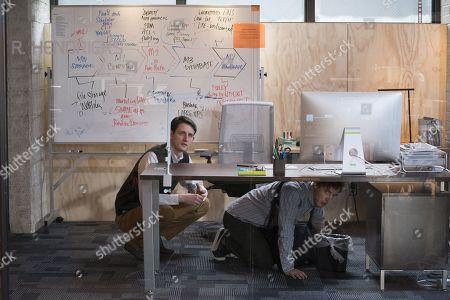 Zach Woods as Donald 'Jared' Dunn, Thomas Middleditch as Richard Hendricks