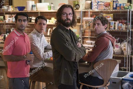 Kumail Nanjiani as Dinesh Chugtai, Zach Woods as Donald 'Jared' Dunn, Martin Starr as Bertram Gilfoyle, Thomas Middleditch as Richard Hendricks