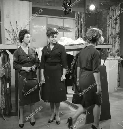 Joan Francis (as Dot Greenhalgh), Pat Phoenix (as Elsie Tanner) and Christine Hargreaves (as Christine Appleby)