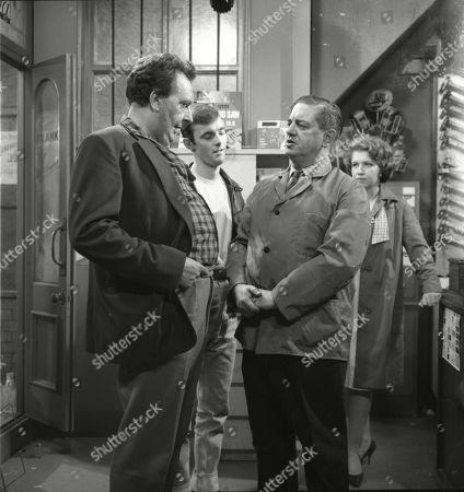 Paul Dawkins (as George Pickup), Bunny May (as Jim Pickup), Frank Pemberton (as Frank Barlow) and Anne Reid (as Valerie Barlow)