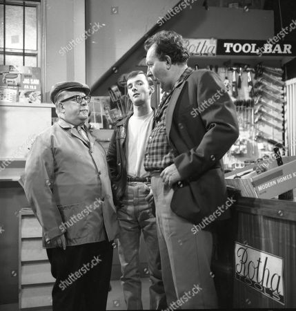 Jack Howarth (as Albert Tatlock), Bunny May (as Jim Pickup) and Paul Dawkins (as George Pickup)