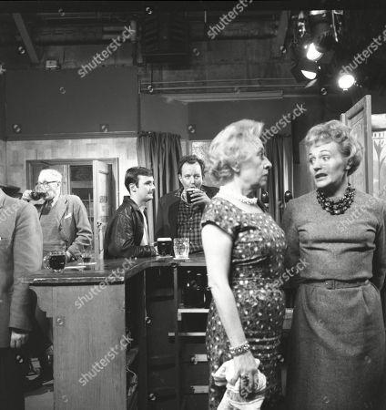 Bunny May (as Jim Pickup), Paul Dawkins (as George Pickup), Doris Speed (as Annie Walker) and Doreen Keogh (as Concepta Hewitt)