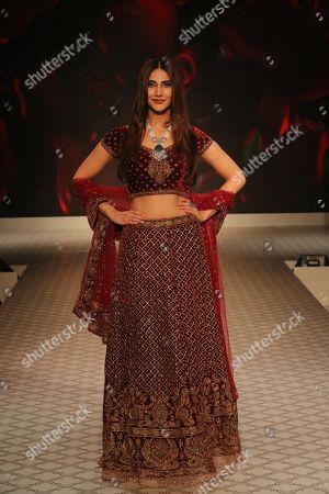 Vaani Kapoor on the catwalk