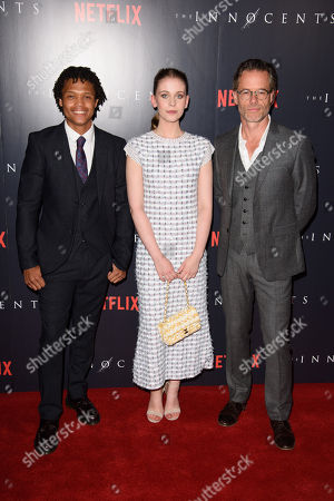 Percelle Ascott, Sorcha Groundsell and Guy Pearce