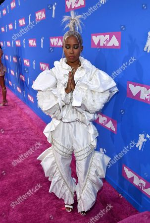 Stock Photo of Dej Loaf arrives at the MTV Video Music Awards at Radio City Music Hall, in New York