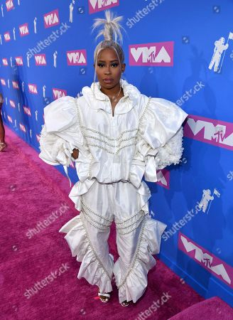 Dej Loaf arrives at the MTV Video Music Awards at Radio City Music Hall, in New York
