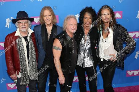 Aerosmith - Steven Tyler, Tom Hamilton, Joey Kramer, Joe Perry and Brad Whitford