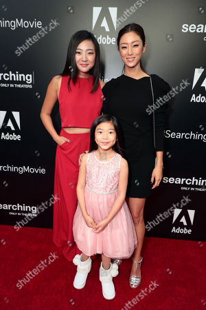 Michelle La, Alex Jayne Go and Sara Sohn attend the special screening of Screen Gems thriller SEARCHING at ArcLight Hollywood, sponsored by Adobe.