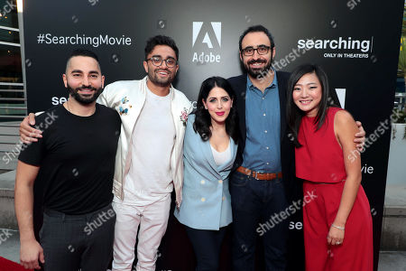 Sev Ohanian, Writer/Producer, Aneesh Chaganty, Director/Writer, Natalie Qasabian, Producer, Adam Sidman, Producer, and Michelle La attend the special screening of Screen Gems thriller SEARCHING at ArcLight Hollywood, sponsored by Adobe.