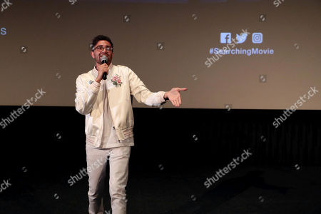 Aneesh Chaganty, Director/Writer, attends the special screening of Screen Gems thriller SEARCHING at ArcLight Hollywood, sponsored by Adobe.
