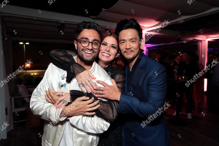 Aneesh Chaganty, Director/Writer, Debra Messing and John Cho attend the special screening of Screen Gems thriller SEARCHING at ArcLight Hollywood, sponsored by Adobe.
