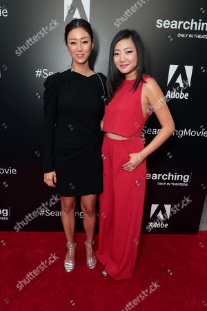 Sara Sohn and Michelle La attend the special screening of Screen Gems thriller SEARCHING at ArcLight Hollywood, sponsored by Adobe.