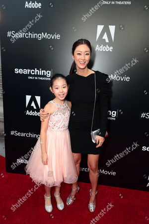 Megan Liu and Sara Sohn attend the special screening of Screen Gems thriller SEARCHING at ArcLight Hollywood, sponsored by Adobe.