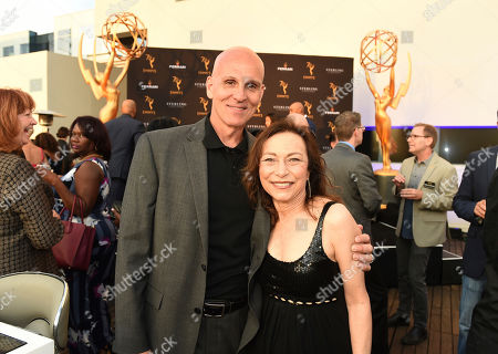 Ray Proscia, Kathie Barnes. Ray Proscia, left, and Kathie Barnes attend the Television Academy's 2018 Performers Peer Group Celebration of the 70th Emmy Awards at NeueHouse Hollywood, in Los Angeles