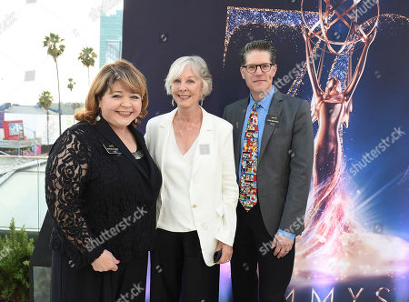 Patrika Darbo, Christina Pickles, Bob Bergan. Patrika Darbo, from left, Christina Pickles, and Bob Bergan attend the Television Academy's 2018 Performers Peer Group Celebration of the 70th Emmy Awards at NeueHouse Hollywood, in Los Angeles