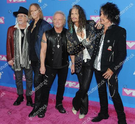 Aerosmith - Brad Whitford, Tom Hamilton, Joey Kramer, Steven Tyler and Joe Perry