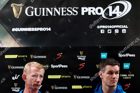 Leinster head coach Leo Cullen and captain Jonathan Sexton