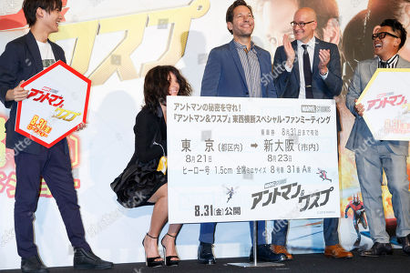 Editorial image of 'Ant-Man and the Wasp' film photocall, Tokyo, Japan - 21 Aug 2018