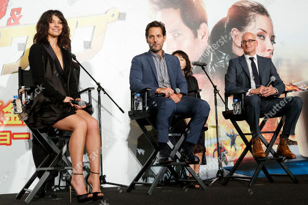 Evangeline Lilly, Paul Rudd and Director Peyton Reed