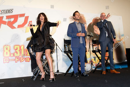 (L to R) Evangeline Lilly, Paul Rudd and Peyton Reed