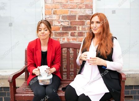 Ep 9554 Friday 7th September 2018 - 1st Ep  When Toyah Battersby, as played by Georgia Taylor, accidentally locks herself out of the flat in her pyjamas, she's panic stricken and explains to Peter that it's her first day in her new job at the medical centre. Peter takes pity on her and lends her some of Tracy's old clothes. Toyah starts work as a counsellor. When Moira, as played by Louisa Patikas, compliments her on her new look, Toyah masks her discomfort.