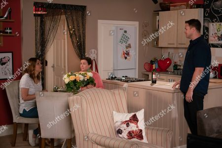 Ep 9547 Wednesday 29th August 2018 - 2nd Ep When Jude Appleton, as played by Paddy Wallace, surprises Angie Appleton, as played by Victoria Ekanoye, with a romantic meal for two she rushes out. Jude catches Mary and Tracy Barlow, as played by Kate Ford, planning the vow renewal. Knowing where Angie's head is at will Jude tell Mary to stop?
