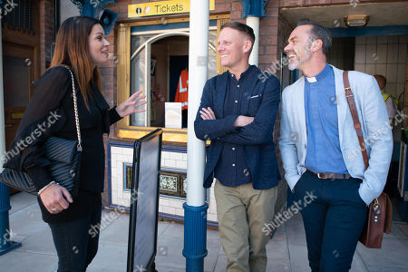 Ep 9543 Friday 24th August 2018 - 2nd Ep Sean Tully, as played by Antony Cotton, gets his job back at the factory but is saddened when he and Billy Mayhew, as played by Daniel Brocklebank, fail to find Carol after she is discharged from hospital. With Carla Connor, as played by Alison King.