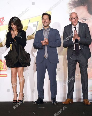 Stock Photo of Evangeline Lilly, Paul Rudd, Peyton Reed