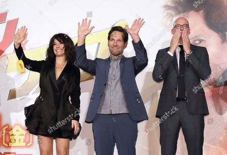 Evangeline Lilly, Paul Rudd, Peyton Reed