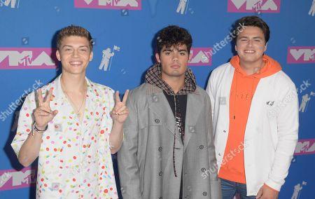 Emery Kelly, Ricky Garcia, Liam Attridge