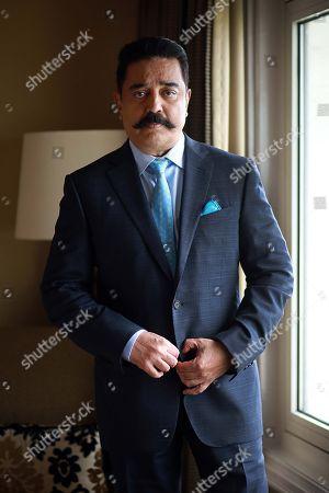 Editorial photo of Kamal Haasan photo shoot, New Delhi, India - 17 Aug 2018
