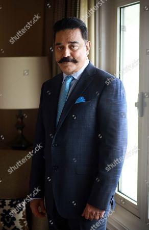 Editorial image of Kamal Haasan photo shoot, New Delhi, India - 17 Aug 2018